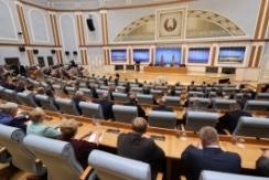 Члены Президиума Совета Республики Н.Кочанова и А.Исаченко приняли участие во встрече актива местной вертикали с Главой государства