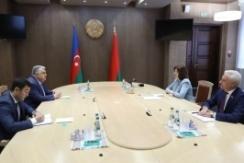 Председатель Совета Республики Н.Кочанова встретилась с Послом Азербайджанской Республики в Беларуси Л.Гандиловым