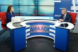 Участие А.Неверова в телепрограмме «Диалог» телерадиокомпании «Гомель»