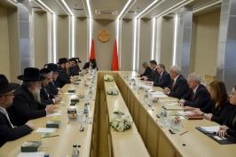 Председатель Совета Республики Мясникович М.В. встретился с делегацией Конференции европейских раввинов